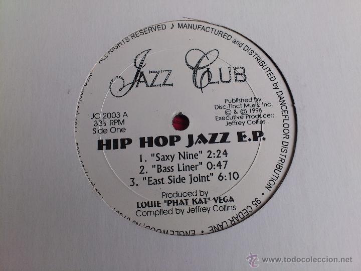 Discos de vinilo: JAZZ CLUB - HIP HOP JAZZ E.P. - VINILO - DISC TINT - JEFFREY COLLINS - 1996 - Foto 2 - 52007394