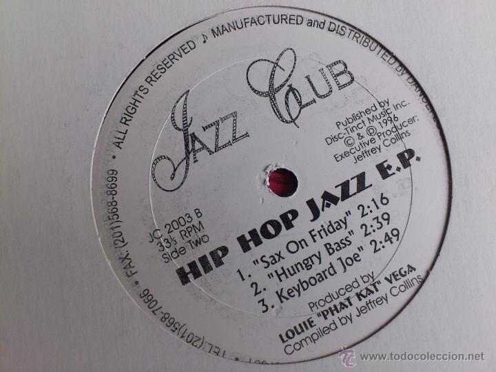 Discos de vinilo: JAZZ CLUB - HIP HOP JAZZ E.P. - VINILO - DISC TINT - JEFFREY COLLINS - 1996 - Foto 4 - 52007394