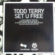 Discos de vinilo: TODD TERRY - SET U FREE - SOUND DESIGN - MAXI - VINILO - KONTOR - 2002. Lote 52007437