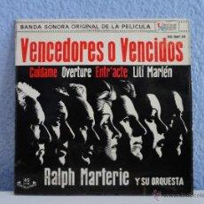 Discos de vinilo: RALPH MARTERIE - B.S.O. VENCEDORES O VENCIDOS // EP 4 CANCIONES // 1962. Lote 52008402