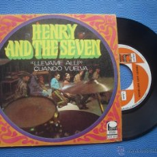 Discos de vinilo: HENRY & THE SEVEN LEVAME ALLI SINGLE SPAIN 1968 PDELUXE. Lote 52020737
