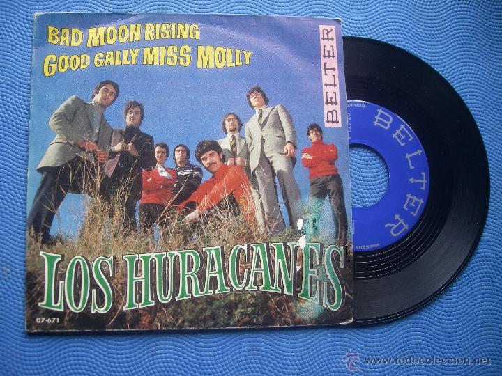 LOS HURACANES BAD MOON RISING SINGLE 1969 PDELUXE (Música - Discos - Singles Vinilo - Grupos Españoles 50 y 60)