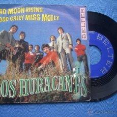 Discos de vinilo: LOS HURACANES BAD MOON RISING SINGLE 1969 PDELUXE. Lote 52021015