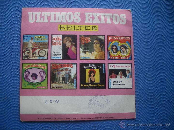 Discos de vinilo: LOS HURACANES BAD MOON RISING SINGLE 1969 PDELUXE - Foto 2 - 52021015