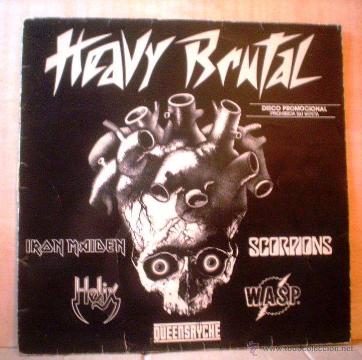 HEAVY BRUTAL.DISCO PROMOCIONAL,ESCASO.IRON MAIDEN,SCORPIONS,WASP,HELIX Y QUEENSRYCHE. (Música - Discos - Singles Vinilo - Heavy - Metal)