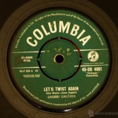 Discos de vinilo: CHUBBY CHECKER - LET'S TWIST AGAIN + EVERYTHING'S GONNA BE ALL RIGHT (MADE IN GT. BRITAIN 1961). Lote 52021339