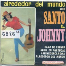 Discos de vinilo: SANTO Y JOHNNY / DAMA DE ESPAÑA / ABRIL EN PORTUGAL + 2 (EP 1963). Lote 52021523