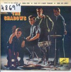 Discos de vinilo: THE SHADOWS / SOUTH OF THE BORDER / KINDA COOL + 2 (EP 1963). Lote 52021597