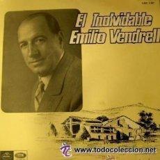 Discos de vinilo: EMILIO VENDRELL - EL INOLVIDABLE - LP REGAL 1966 . Lote 52024182