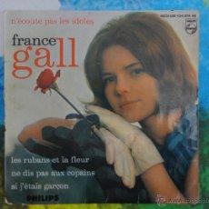 Discos de vinilo: FRANCE GALL - N'ÉCOUTE PAS LES IDOLES + 3 CANCIONES // EP // MADE IN FRANCE // 1964. Lote 52030429