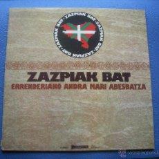 Discos de vinilo: CORAL ANDRA MARI DE RENTERIA- ZAZPIAK BAT LP CON DOBLE PORTADA EDITA MOVIEPLAY EN 1976. Lote 52122602