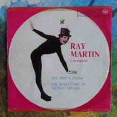 Discos de vinilo: RAY MARTIN Y SU ORQUESTA - THE MIME'S THEME / THE BOULEVARD OF BROKEN DREAMS // PROMOCIONAL // 1961. Lote 52125365