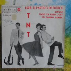 Discos de vinilo: LOS TNT - EL PARTIDO DE FÚTBOL + 3 CANCIONES // EP // 1963. Lote 52125512