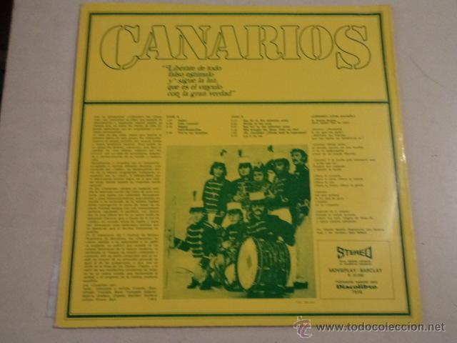 Discos de vinilo: CANARIOS - LIBÉRATE - LP EDICIÓN ESPECIAL PARA DISCOLIBRO - Foto 2 - 52136416
