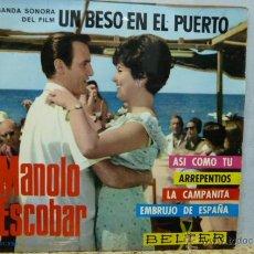 Discos de vinilo: MANOLO ESCOBAR --ASI COMO TU-Y 3 MAS. Lote 52137762