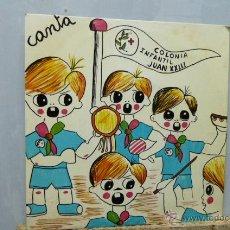 Discos de vinilo: CANTA LA COLONIA INFANTIL JUAN XXIII. Lote 52147513