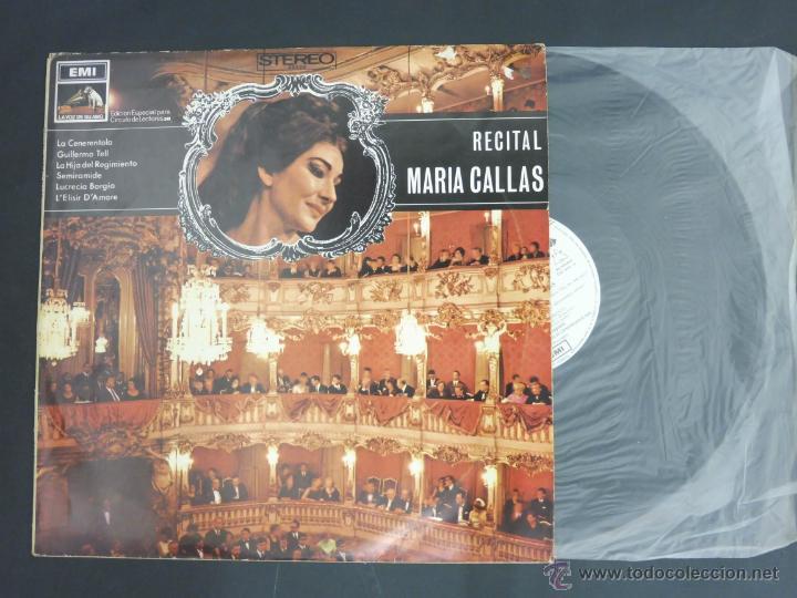 DISCO VINILO RECITAL MARIA CALAS EDICICION ESPECIAL CIRCULO DE LECTORES LA VOZ DE SU AMO EMI DCL011 (Música - Discos - Singles Vinilo - Clásica, Ópera, Zarzuela y Marchas)