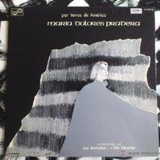 Discos de vinilo: MARIA DOLORES PRADERA - POR TIERRAS DE AMERICA - LP - VINILO - ZAFIRO - 1976. Lote 52156109