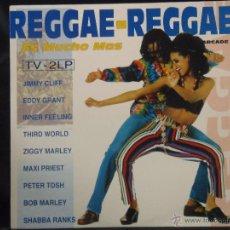 Discos de vinilo: REGGAE-REGGAE ES MUCHO MAS DOBLE DISCO CON UNA RECOPILACION DE LOS MEJORES DEL REGGAE 1983-1993. Lote 52157573