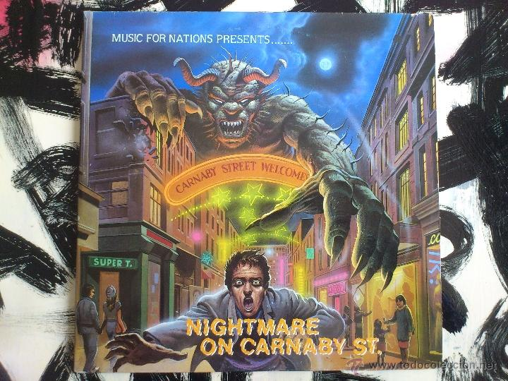 NIGHTMARE ON CARNABY S.T - VARIOUS ARTISTS - DOBLE VINILO - LP - MUSIC FOR NATIONS - 1987 (Música - Discos - LP Vinilo - Heavy - Metal)