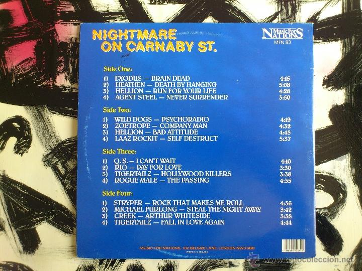 Discos de vinilo: NIGHTMARE ON CARNABY S.T - VARIOUS ARTISTS - DOBLE VINILO - LP - MUSIC FOR NATIONS - 1987 - Foto 3 - 52158713