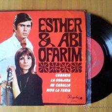 Discos de vinilo: ESTHER AND ABI OFARIM - CANARIO + 3 EP 1968. Lote 52159162