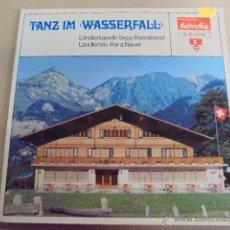 Discos de vinilo: HELVETIA SCHALLPLATTEN - TANZ IM WASSERFALL - FOLK ALPES TIROL - PRECIOSO DISEÑO - NAUER. Lote 52162268