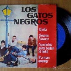 Discos de vinilo: LOS GATOS NEGROS -- SHEILA -- GIOVANE, GIOVANE -- CUANDO LOS GATOS BAILAN EL TWIST - EP 1963. Lote 52162381
