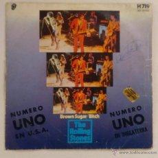 Discos de vinilo: DISCO 7PULGADAS - THE ROLLING STONES - BROWN SUGAR / BITCH. Lote 52163405