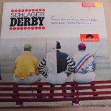 Discos de vinilo: POLYDOR - SCHLAGER DERBY 1965 - CONNIE FRANCIS Y DISTINTAS ORQUESTAS. Lote 52163659