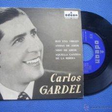 Discos de vinilo: CARLOS GARDEL HAY UNA VIRGEN + 3 EP SPAIN 1963 PDELUXE. Lote 52166921