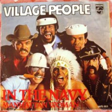 Discos de vinilo: SINGLE VINILO VILLAGE PEOPLE IN THE NAVY. Lote 52169466