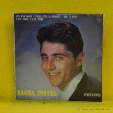 Discos de vinilo: SACHA DISTEL - BYE BYE BABY + 3 - EP. Lote 52277527