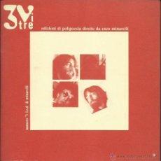 Discos de vinilo: 3VITRE # 7. EDIZIONI DI POLIPOESIA DIRETTE DA ENZO MINARELLI. 45 RPM. ENZO MINARELLI / L.S.D. (1986). Lote 52278892