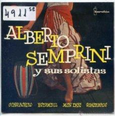 Disques de vinyle: ALBERTO SEMPRINI / ESTAMBUL (NATALINO OTTO) + 1 - MON PAYS (LICIA MOROSINI) + 1 (EP 1960). Lote 102146834
