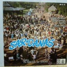 Discos de vinilo: SARDANAS-LA PRINCIPAL DE GIRONA -LA SANTA ESPINA-. Lote 52285110