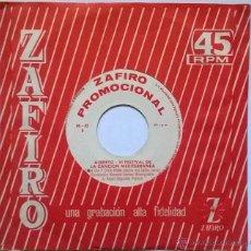 Discos de vinilo: ALBERTO - VI FESTIVAL DE LA CANCIÓN MEDITERRÁNEA - HE SABIDO QUE TE AMABA/CADA DIA Y CADA HORA 1964. Lote 52286154