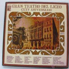 Discos de vinilo: HOMENAJE AL GRAN TEATRO DEL LICEO. CXXV ANIVERSARIO. EMI. 3 LP'S + LIBRETO.. Lote 159052625