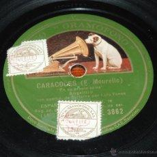 Discos de vinilo: DISCO DE PIZARRA DE ANGELILLO, CARACOLES / SEGUIDILLA GITANA, DISCO GRAMOFONO, AE 3862, ALGUN LIGERO. Lote 52289071