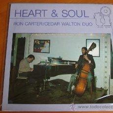 Discos de vinilo: HEART & SOUL - RON CARTER - CEDAR WALTON DUO. Lote 52291939