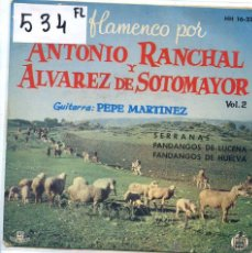 Discos de vinil: ANTONIO RANCHAL Y ALVAREZ DE SOTOMAYOR / SERRANAS + 2 (EP 1961). Lote 52296490