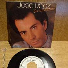 Discos de vinilo: JOSÉ VÉLEZ. QUE NO PARE EL AMOR. SG-PROMO / COLUMBIA - 1985. CALIDAD LUJO. ****/****. Lote 52303134