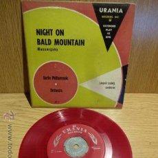 Discos de vinilo: MUSSORGSKY. NIGHT ON BALD MOUNTAIN. EP/ URANIA-USA. VINILO ROJO / CENTRO METÁLICO.**/***LEER. Lote 82364931