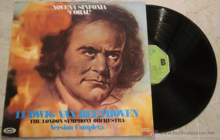 LUDWIG VAN BEETHOVEN - NOVENA SINFONIA CORAL LP MOVIE PLAY DE 1973(Música - Discos - LP Vinilo - Clásica, Ópera, Zarzuela y Marchas)