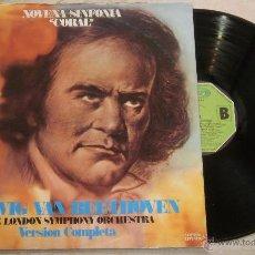 Discos de vinilo: LUDWIG VAN BEETHOVEN - NOVENA SINFONIA CORAL LP MOVIE PLAY DE 1973. Lote 52311192