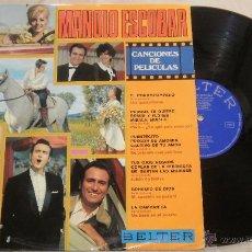 Discos de vinilo: MANOLO ESCOBAR-CANCIONES DE PELÍCULAS LP VINILO 1970 SPAIN. Lote 52311311