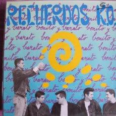 Discos de vinilo: LP - RECUERDOS K.O. - BONITO Y BARATO (SPAIN, LA ESTACION RECORDS 1991). Lote 52313215