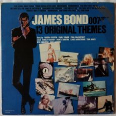 Discos de vinilo: BSO, JAMES BOND 13 ORIGINAL THEMES (LIBERTY) LP USA PROMOCIONAL, PAUL MCCARTNEY LULU NANCY SINATRA. Lote 52315206