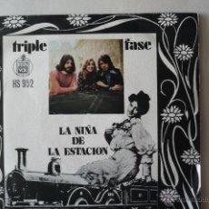Discos de vinilo: TRIPLE FASE -LA CHICA DE LA ESTACION-. Lote 52317477