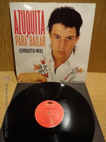 AZUQUITA. PARA BAILAR (CHIQUITO-MIX) MAXI SINGLE / POLYDOR - 1993. CALIDAD LUJO. ****/**** (Música - Discos de Vinilo - Maxi Singles - Flamenco, Canción española y Cuplé)